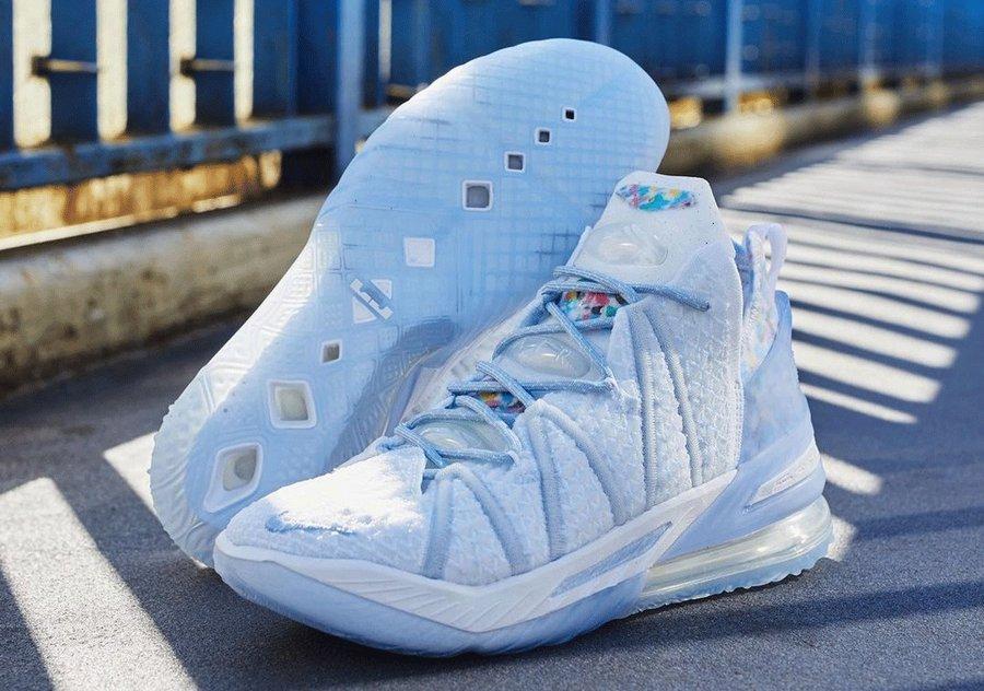 LeBron 18,Nike,CW3156-400  冰淇凌的既视感!LeBron 18 全新配色即将发售!