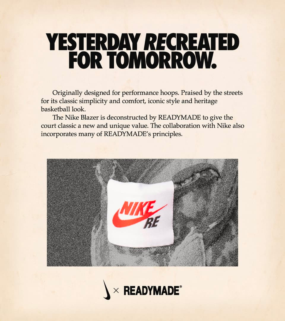 CZ3589-001,READYMADE,Blazer,Ni  好想要啊!READYMADE x Nike 联名椅子也太帅了吧!
