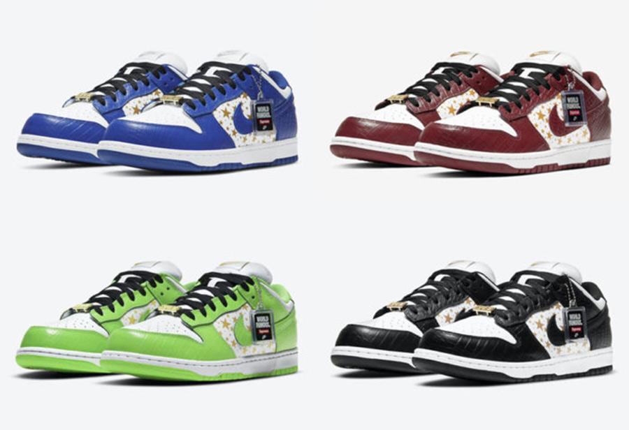 Supreme,Nike SB,Dunk Low,DH322  发售日期终于确定!市价三万多的 Supreme x Dunk SB 下月登场!