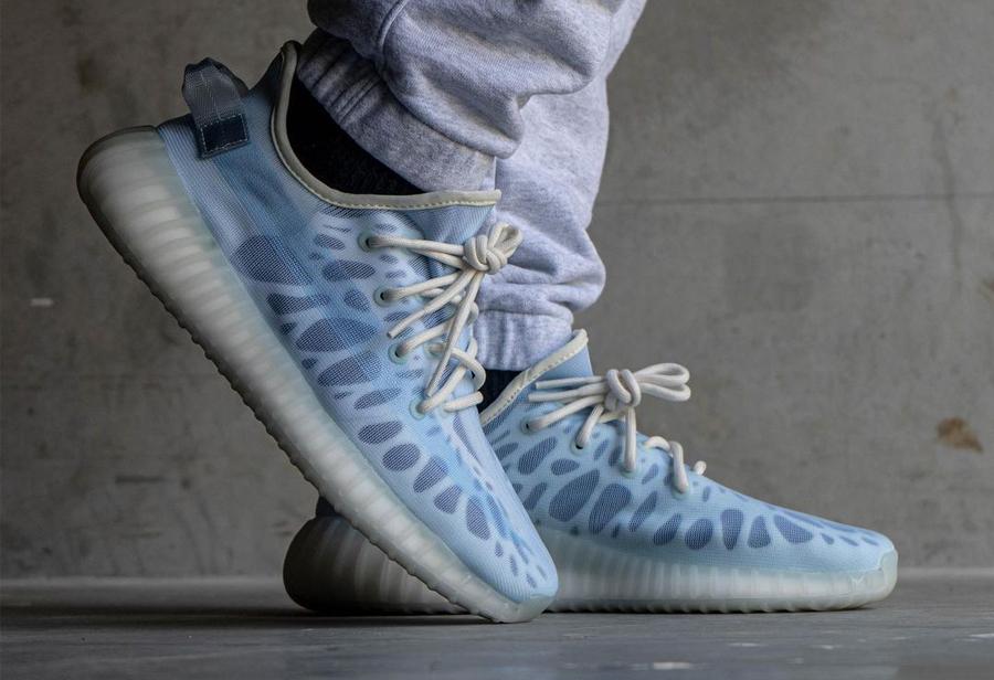 adidas,Yeezy,Yeezy Boost 350 V  「全透冰蓝」Yeezy 350 上脚丑哭了!传闻将提前发售!