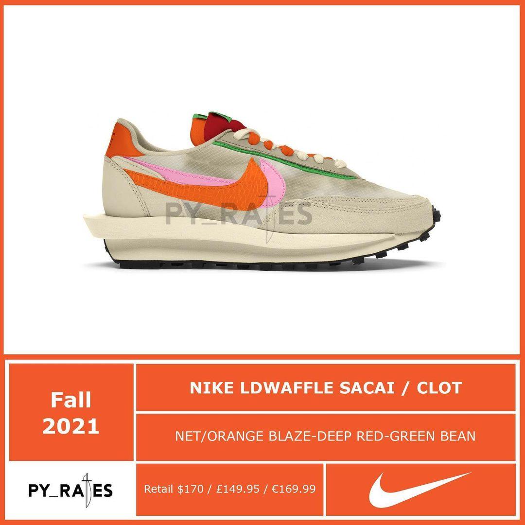 Nike,sacai,LDV Waffle  CLOT x sacai x Nike 联名曝光!今年狠鞋又多一双!