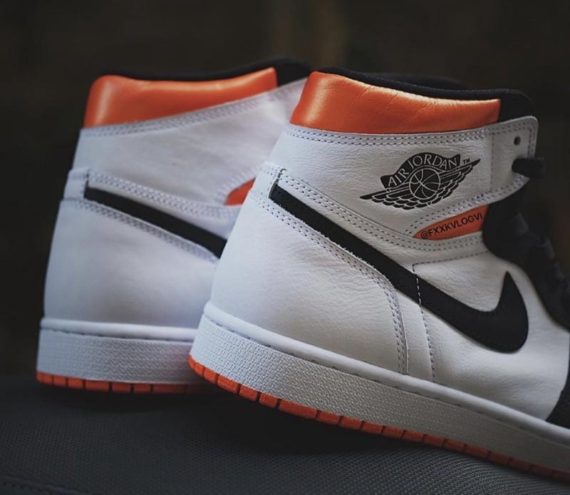 Air Jordan 1,AJ1,,Electro Oran  传说中的 AJ1「扣碎篮板 4.0」实物曝光!居然还是「黑脚趾」!