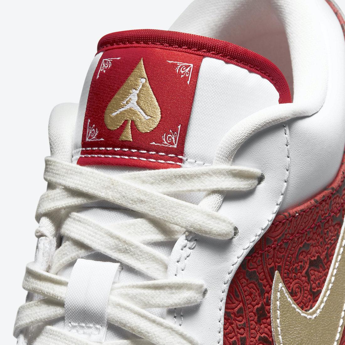 AJ1,Air Jordan 1 Low,DJ5185-10  Jordan 新宝藏系列!这双 AJ1 够古典够奢华!