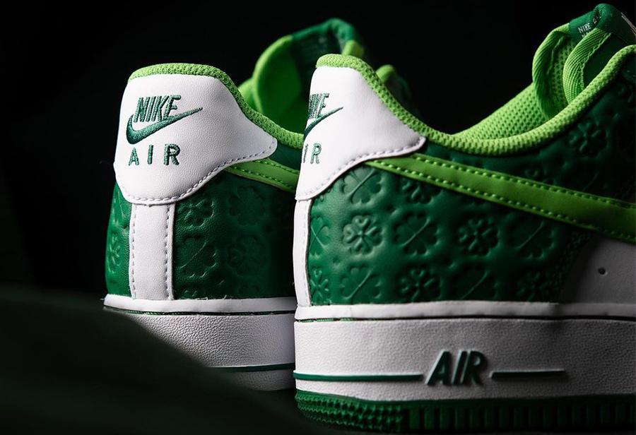 Air Force 1,Nike  四叶草印刻设计!这双 Air Force 1 能给人带来好运?