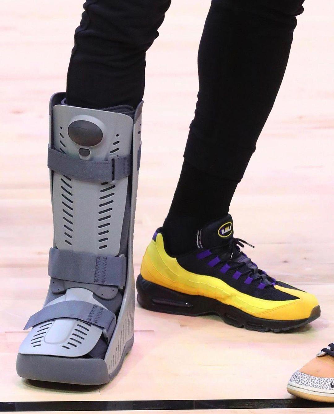 詹姆斯,陈冠希,埃尔金·贝勒,Nike,Air Max 95  詹皇伤后上脚特殊「战靴」!连冠希都想要!