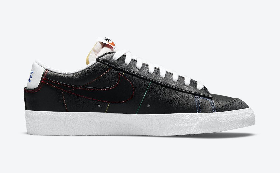 Nike,Blazer Low,DJ6000-001,Mul  彩虹车线太骚气!全新 Nike Blazer Low 官图曝光!