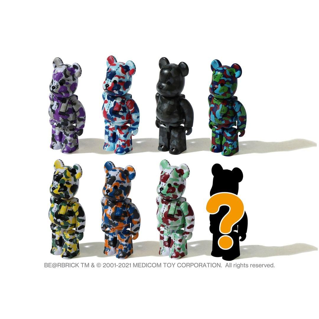 BAPE,BE @ RBRICK  情怀玩家、发烧友们来看一看!全新 BAPE x 积木熊联名曝光!