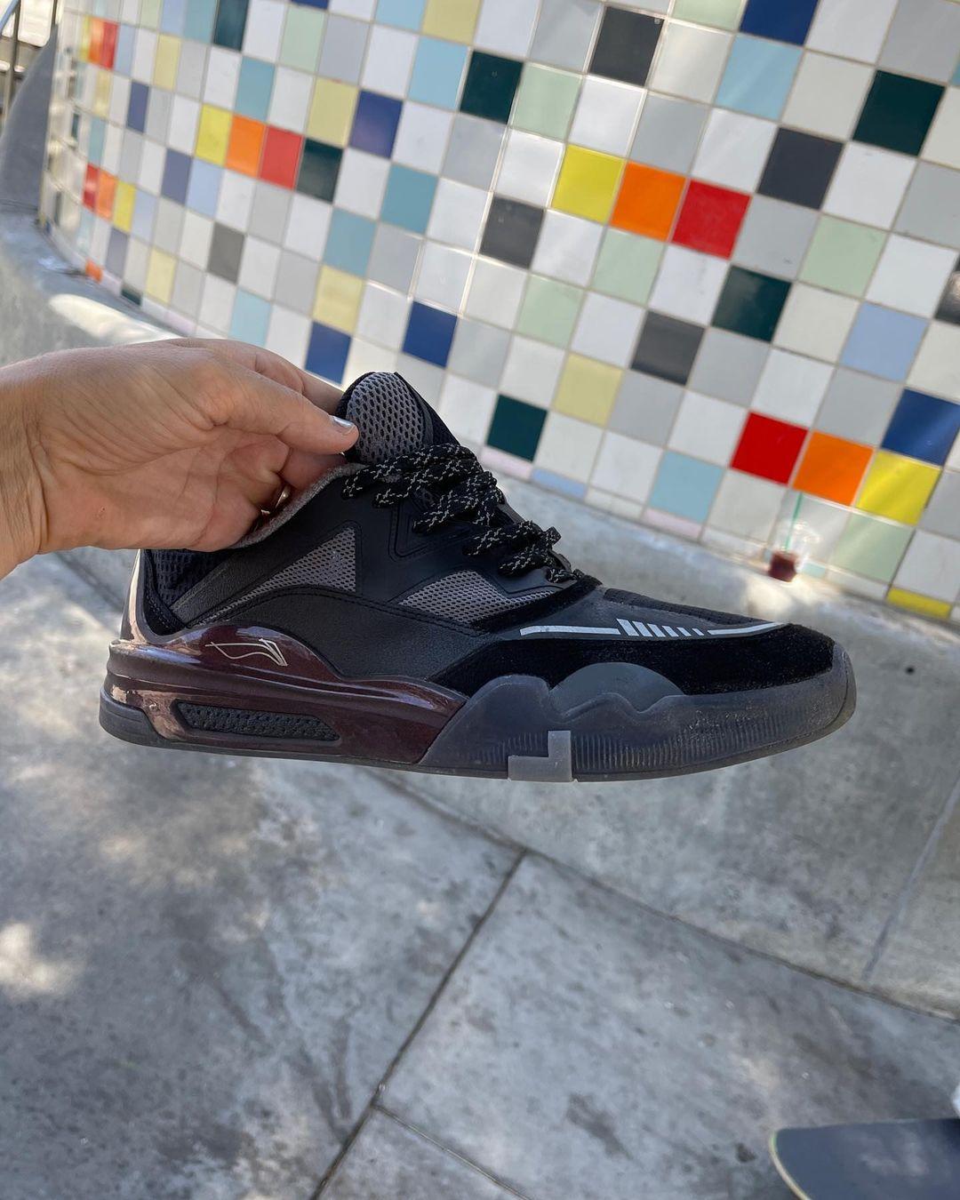 滑板鞋,李宁  神秘李宁签名滑板鞋曝光!蝉翼 + 䨻,配置够高啊!