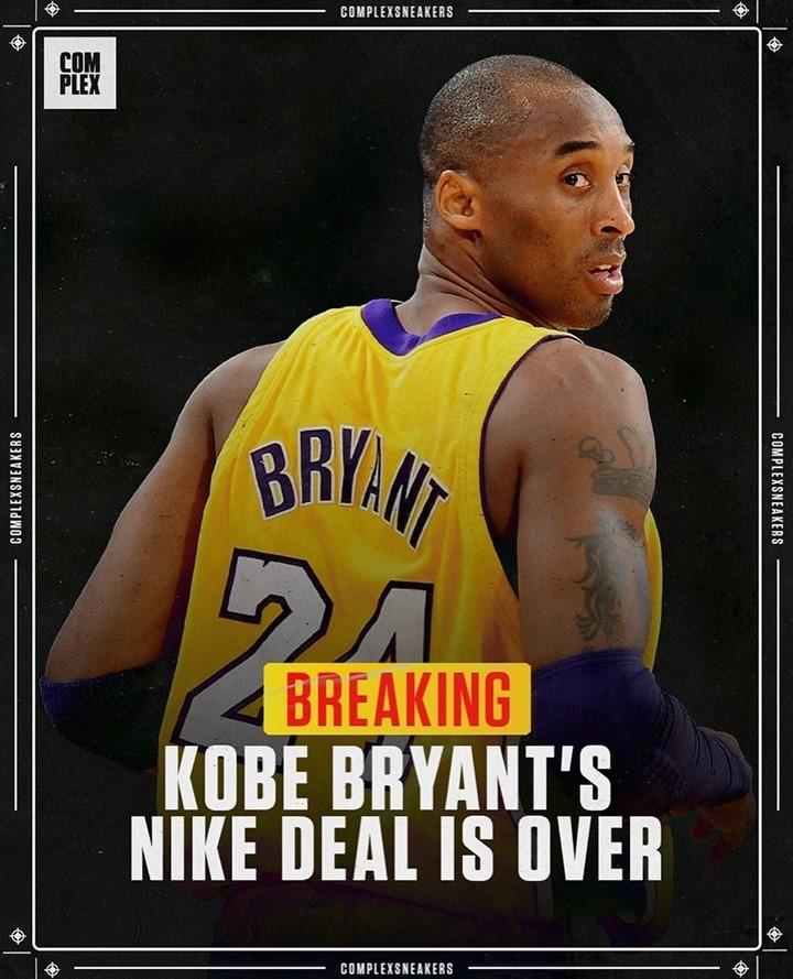 Nike,Kobe  突发!科比与 Nike 合同到期未续约!签名战靴成绝唱?