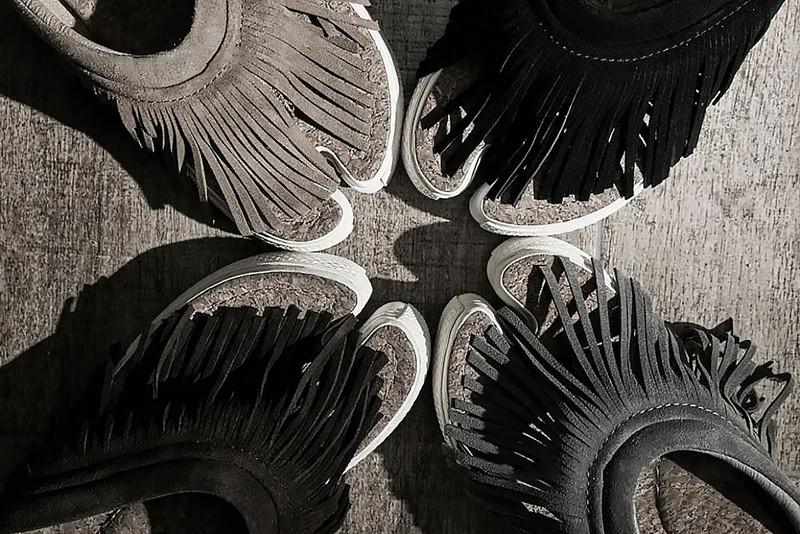 xVESSEL,TASSEL TOE SLIDES  麂皮流苏质感拉满!吴亦凡超爱的品牌出新鞋了!