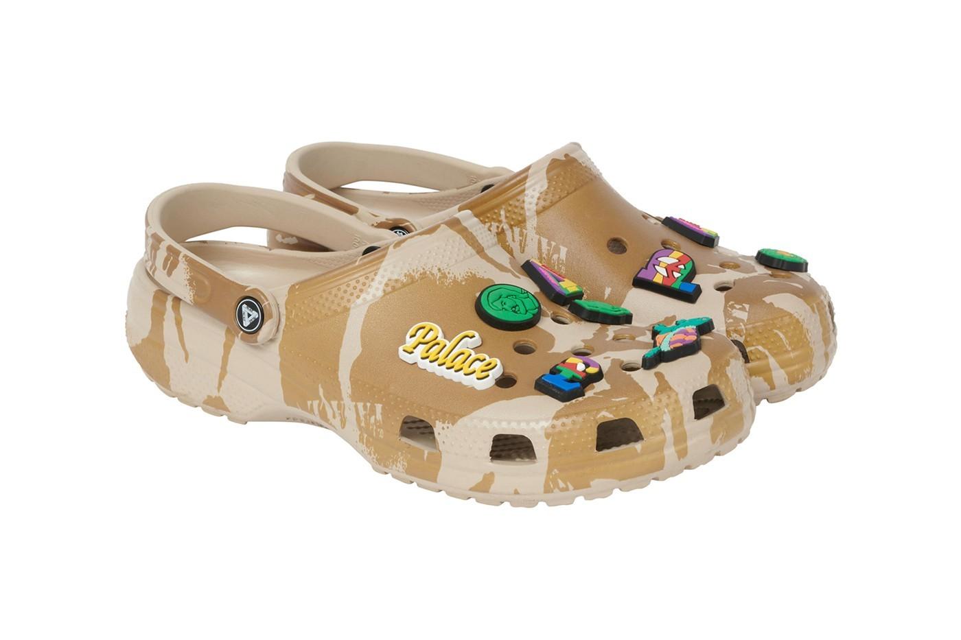 PALACE,Crocs  「沙漠迷彩」够街头!PALACE 联名新鞋曝光,辨识度超高!