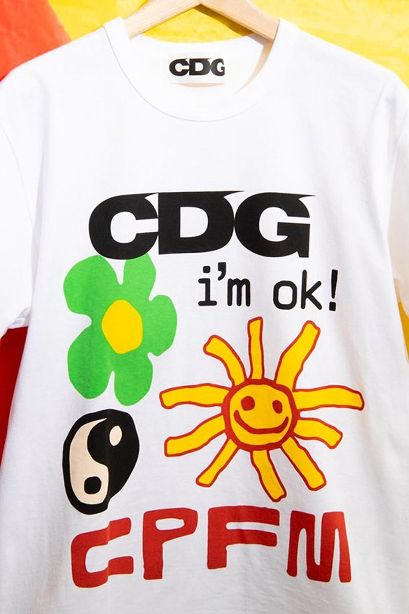 CDG,Cactus Plant Flea Market,川  超可爱涂鸦加持!CDG x CPFM 联名 T 恤明日发售!