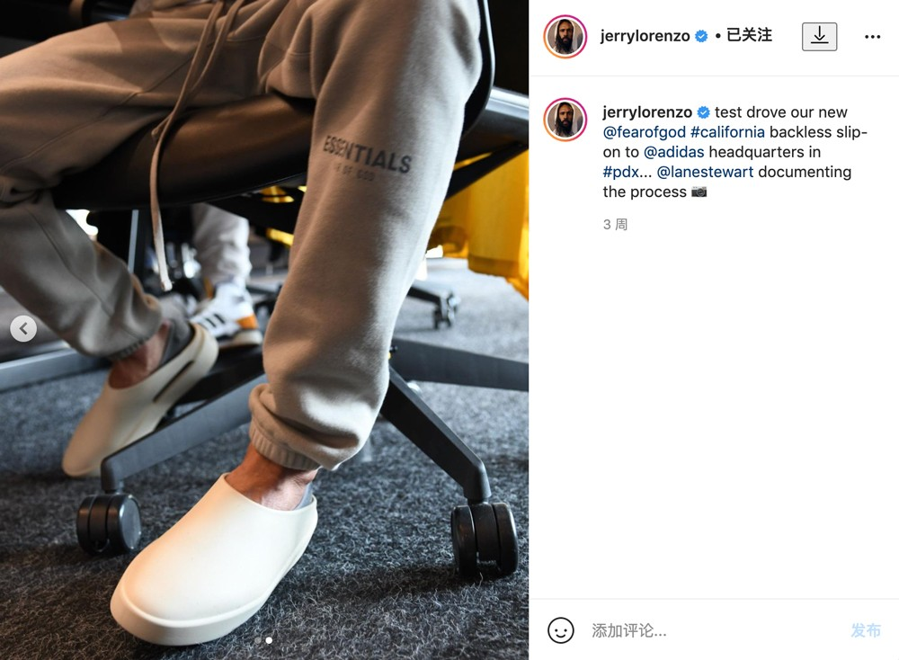 FOG,Jerry,Lorenzo,主理,的,Fear,Go  FOG 拖鞋正式发布!五款配色你更喜欢哪双?