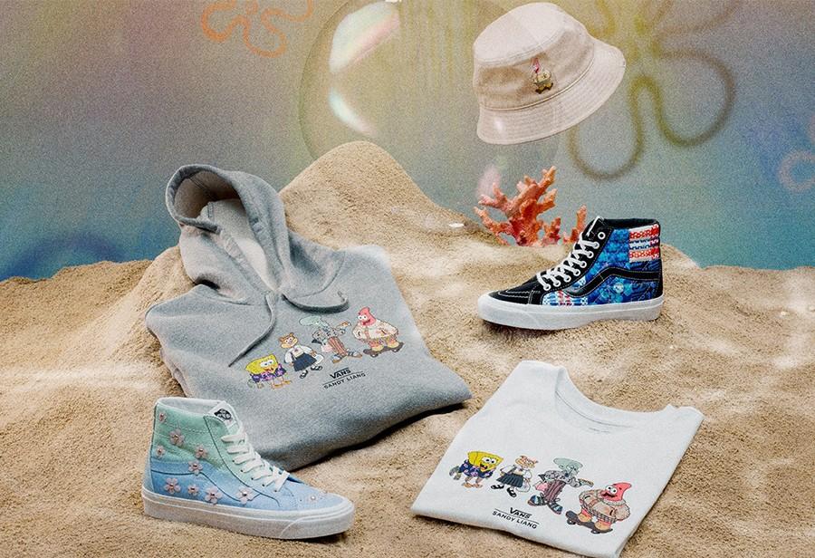 Vans,Sandy Liang,海绵宝宝  实物真可爱!Vans x Sandy Liang x 海绵宝宝「三方联名」即将发售!