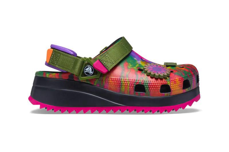 Crocs,Classic Hiker,Peace Out  罕见扎染配色!夏天还得穿这样的鞋!凉快又舒服!