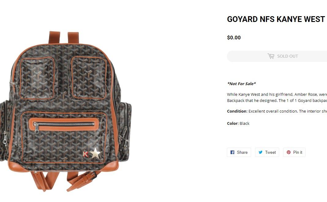 侃爷,Goyard  侃爷原味又火了!专属 Goyard 背包卖出天价!