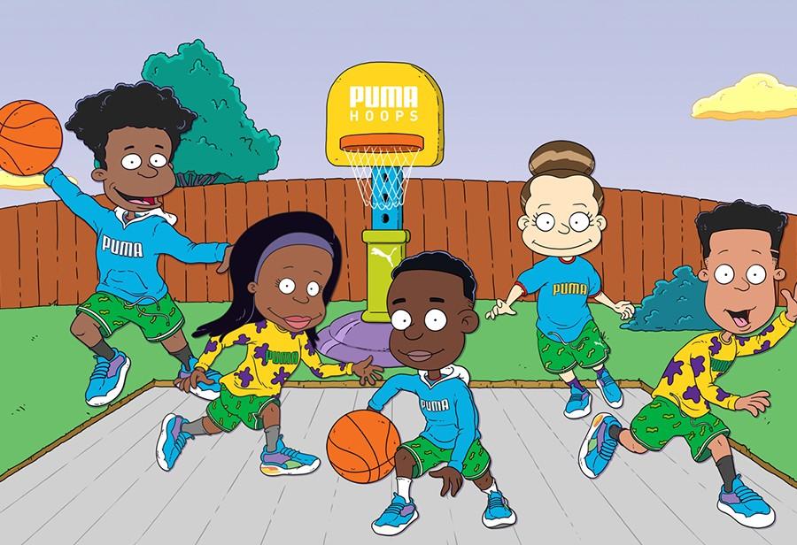 PUMA,Hoops,Rugrats,Nickelodeon  多彩配色!Nickelodeon x PUMA 联名曝光!