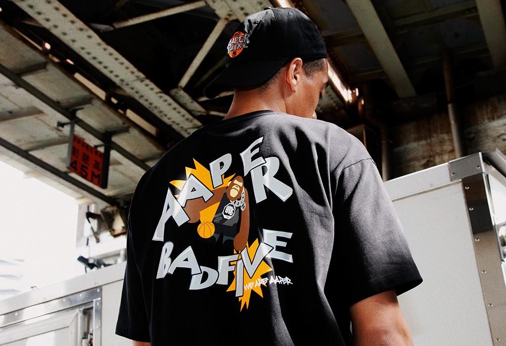 Aape,李宁反伍,BADFIVE,发售  强强联手!李宁反伍和 Aape 打造玩街球的猿人军团!