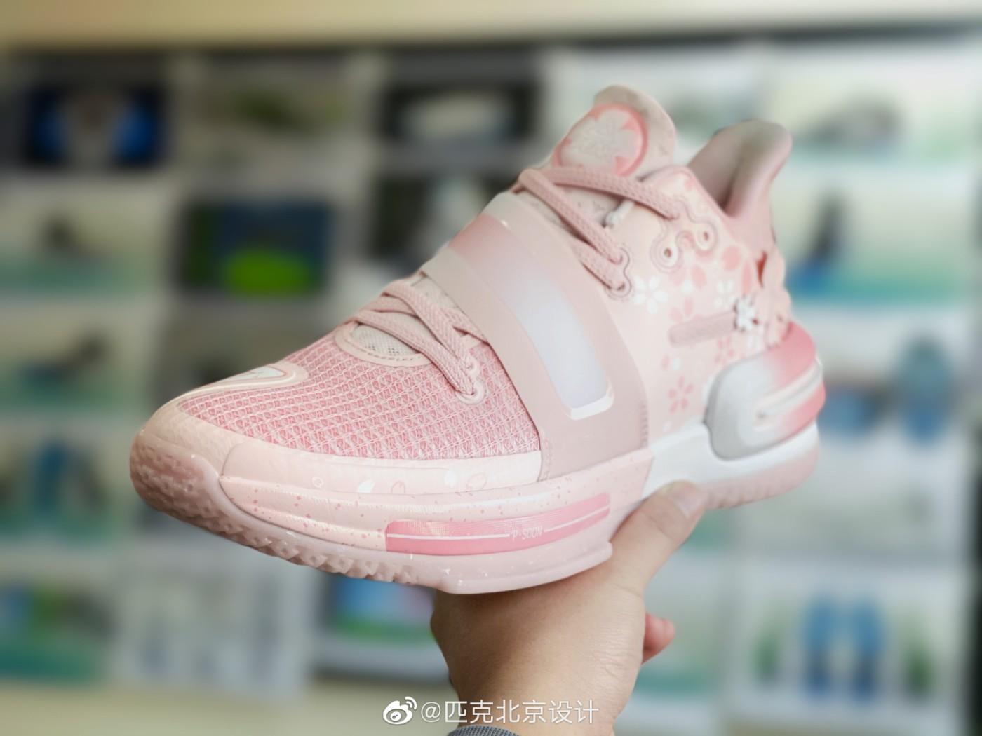 匹克,PEAK,发售,闪现 2  猛男心动!态极「樱花粉」新鞋实物曝光!520 发售!