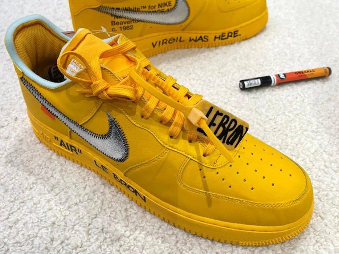 OFF-WHITE,Nike,Air Force 1,发售  詹姆斯同款 OW x AF1 七月发售!可能还是会场限定!
