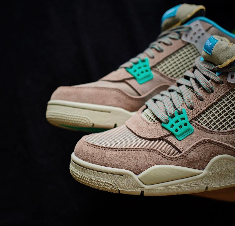 Union,Jordan Brand,曝光  全新 Union x Air Jordan 4 实物曝光!今夏 6 月发售!