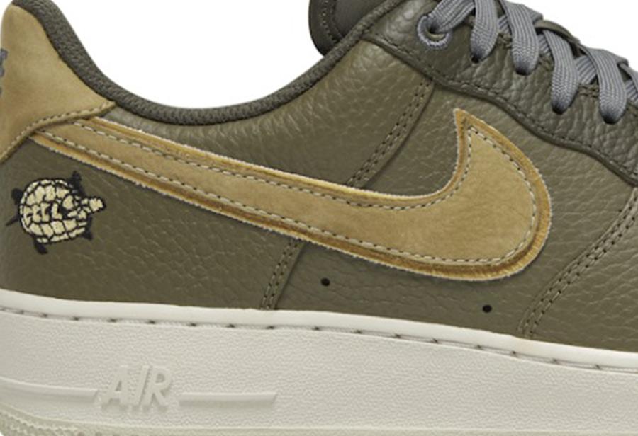 "Nike,Air Force 1 Low,AF1,DA848  刺绣小乌龟加持!全新 Nike AF1 Low ""Turtle"" 官图释出!"