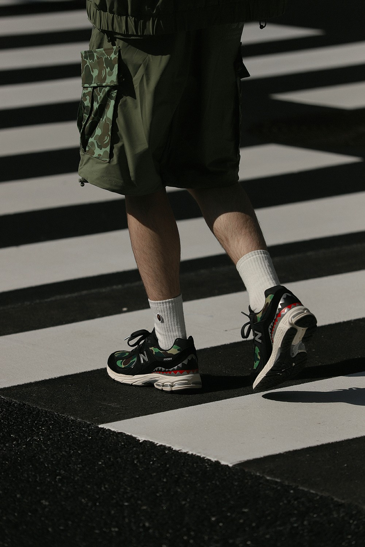 BAPE,New Balance,2002R  近期黑马鞋型!BAPE「鲨鱼联名」太凶了!发售日期确认!