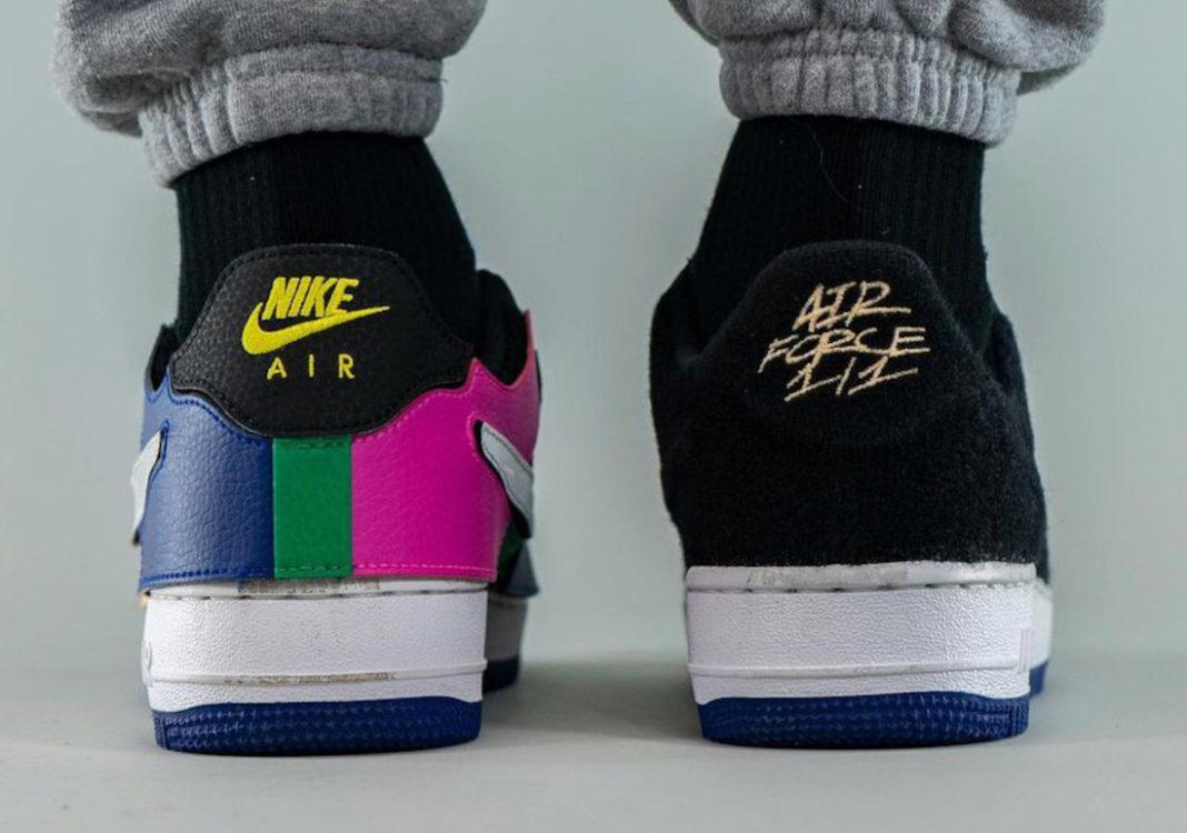 "Nike,Air Force 1,Black Multi,D  五彩魔术贴!全新 Air Force 1/1 ""Black Multi"" 实物曝光!"