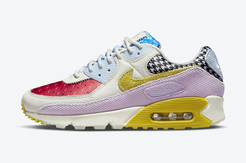 Nike,Air Max 90,DM8075-100  炫彩鞋身 + 多材质拼接!全新 Air Max 90 官图曝光!