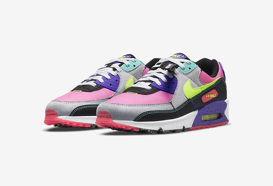 曝光,Nike,Air Max 90  可回收材料外底 + 多色拼接设计!Air Max 90 全新配色曝光!