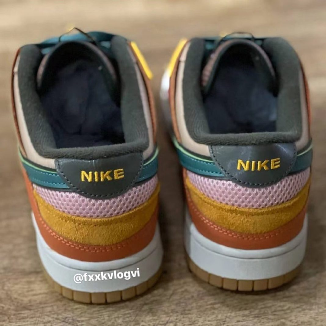 "Nike,Dunk Low,DB0500-200  用料超多""缝合怪"" !全新 Dunk Low 实物曝光!"