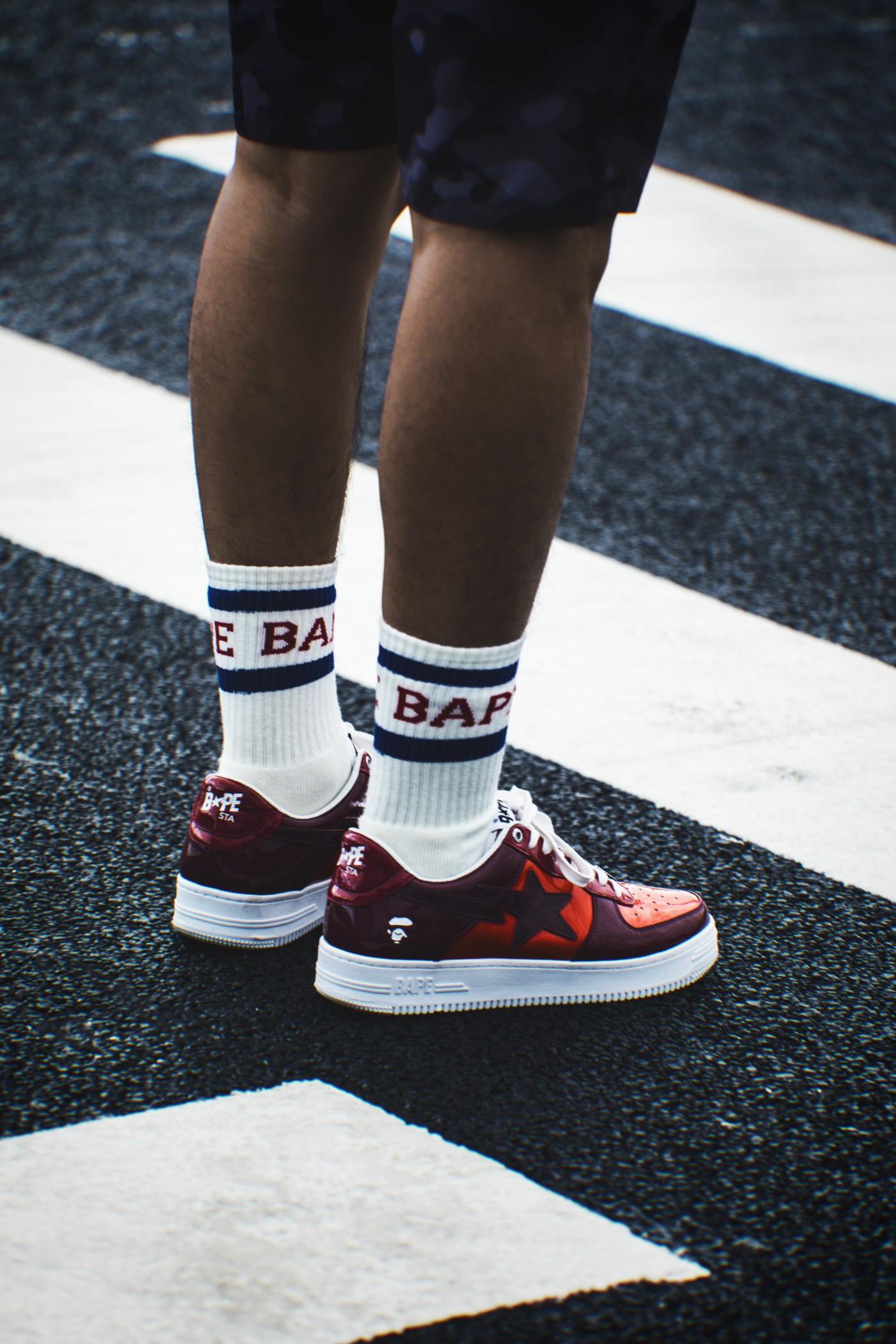 BAPE Star,吴亦凡,坎爷,BAPE  第一次见吴亦凡穿这双鞋!20 年前力压 AJ!侃爷看了直呼爷青回!