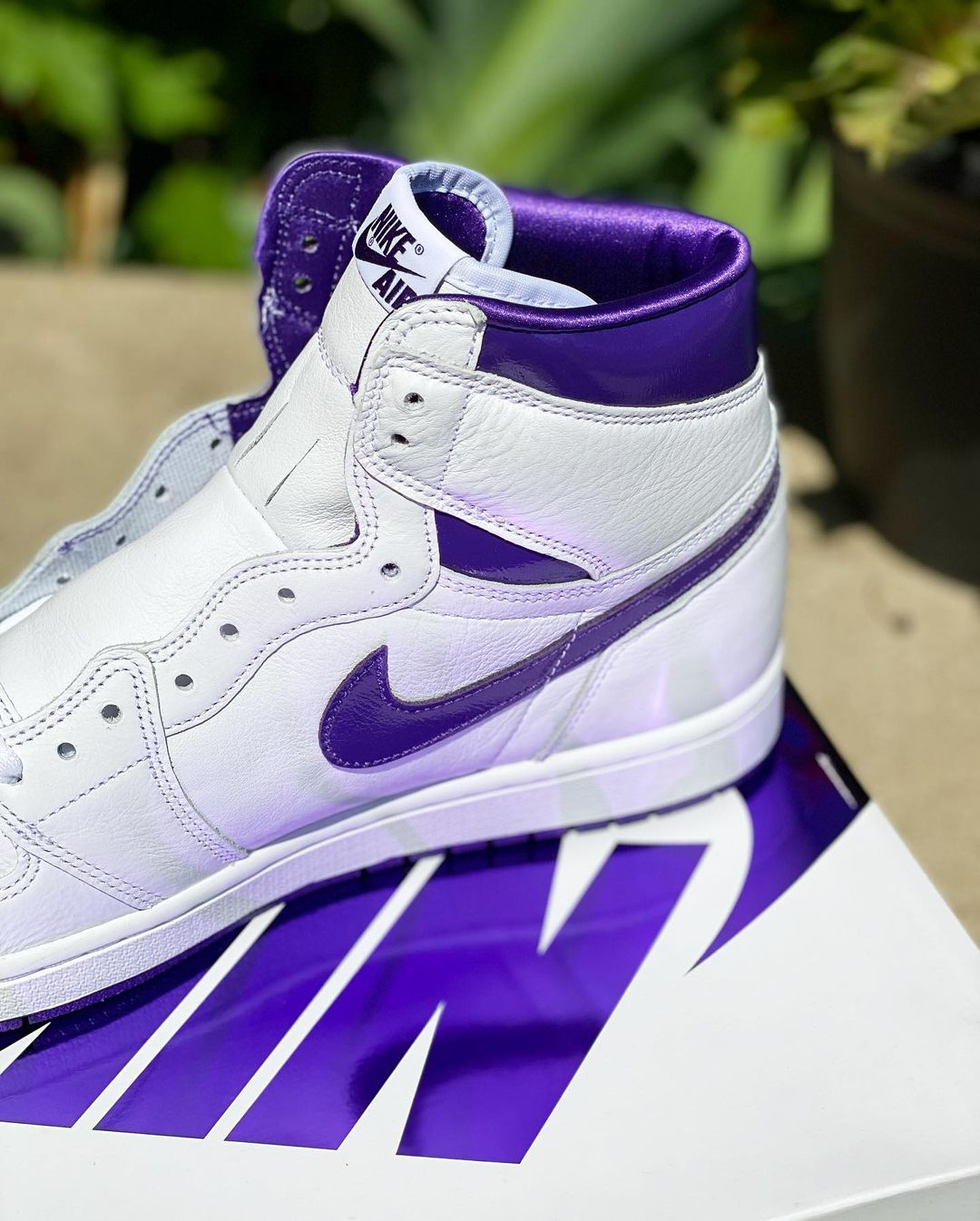 AJ1,AJ,Court Purple,CD0461-151  SNKRS 刚刚上架!元年「白紫」AJ1 最新实物曝光!