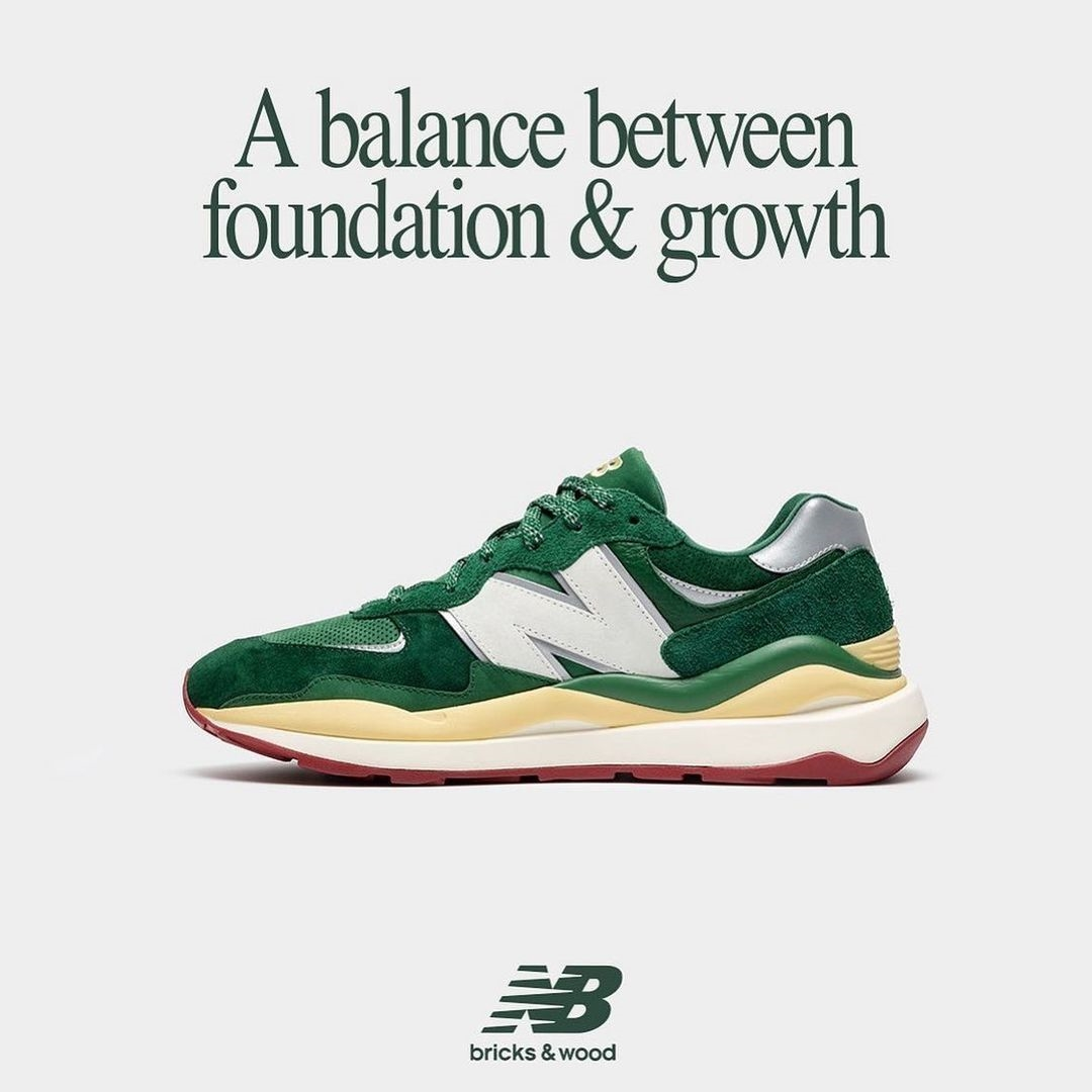 New Balance,Bricks & Wood,发售  夏日里一抹清新的绿! New Balance 5740 全新联名即将发售!