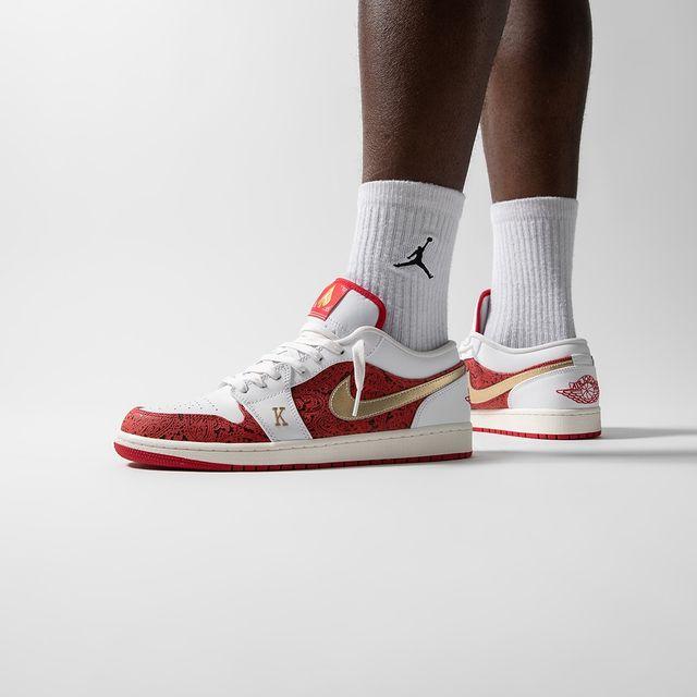 Jordan,Air Jordan 1 Low,AJ1,DJ  「扑克」元素!全新配色 AJ1 Low 上脚美图曝光!