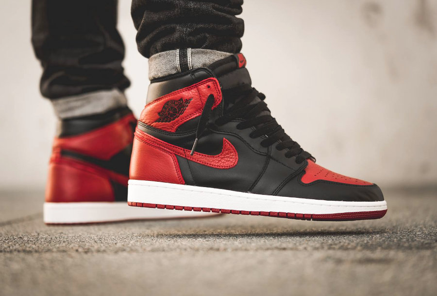 Nike,Jordan Brand,Air Jordan 1   时隔 5 年再度回归!全新 Air Jordan 1 黑红禁穿实物图曝光!