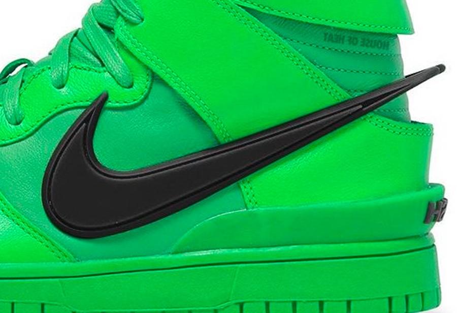Nike,AMBUSH,Dunk High  「原谅绿」AMBUSH x Dunk Hi 首次曝光!这鞋你敢穿吗?