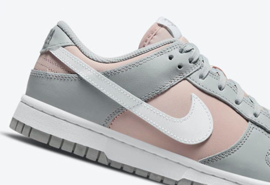 Nike,Dunk Low,DM8329-600  水晶细节点缀!全新「粉灰」Nike Dunk Low 官图曝光!