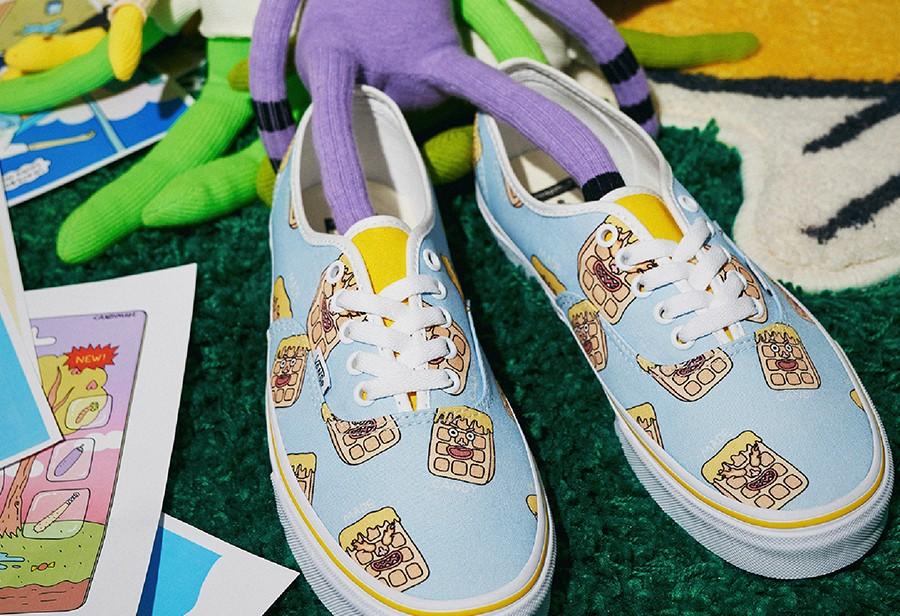Vans,Candymade,发售  华夫饼图案太可爱了吧!Vans 最新联名来了!每双都独一无二!