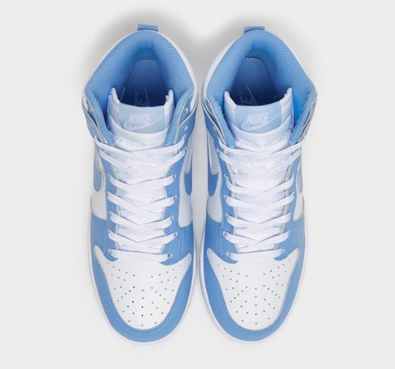 Nike,Dunk High,University Blue  夏日穿搭首选!全新「北卡」Dunk Hi 实物图曝光!