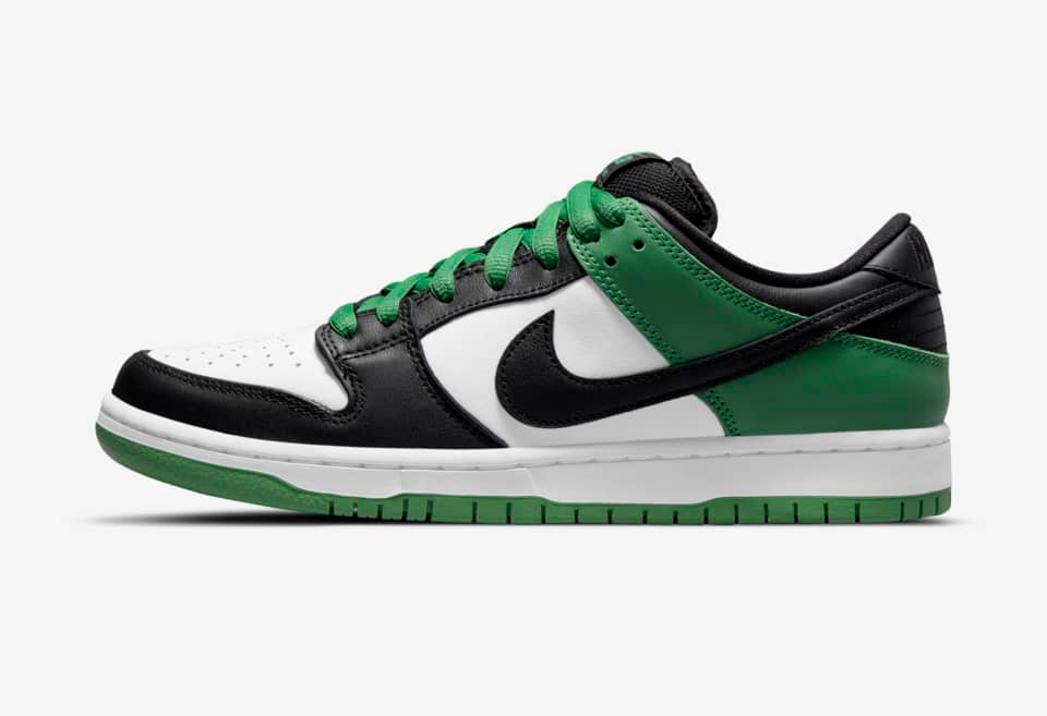 Nike,SB Dunk Low Pro,发售   凯尔特人配色加持!Nike SB Dunk 全新配色即将登场!