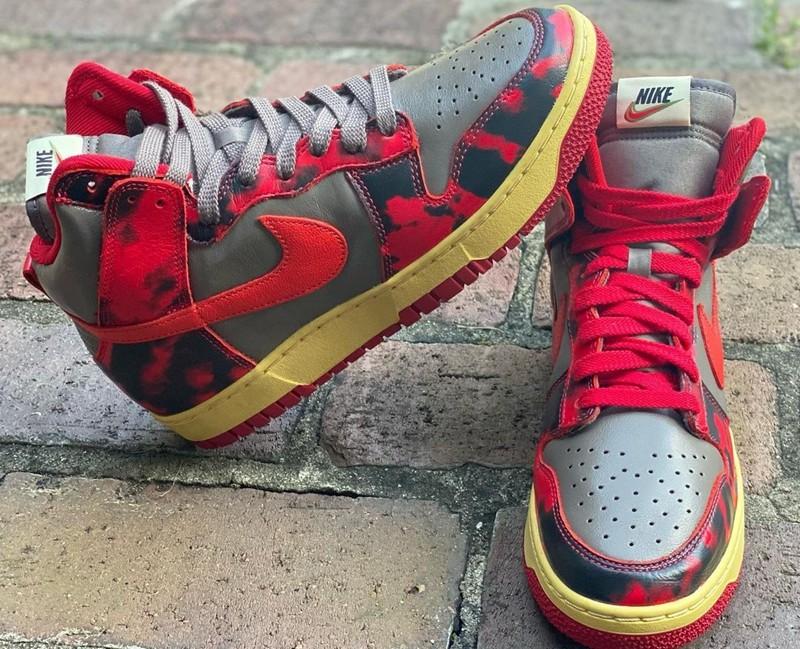 Nike,Dunk High,Red Camo,DD9404  「猩红」迷彩太吸睛!全新 Nike Dunk Hi 最新实物图曝光!
