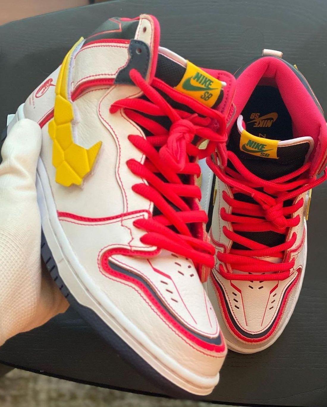 Nike,Dunk SB Hi,高达,曝光  满满的童年回忆!高达联名 Dunk SB 预计今夏发售!