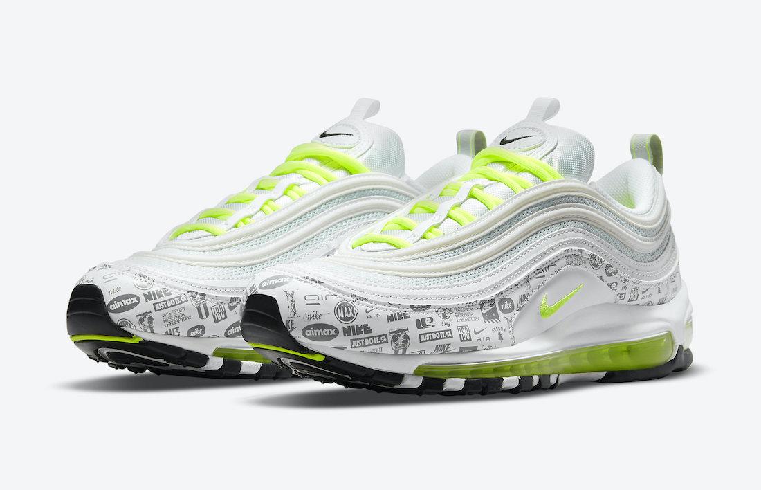 Nike,Air Max 97,DH0006-100  复古图案装扮!全新 Air Max 97 官图曝光!
