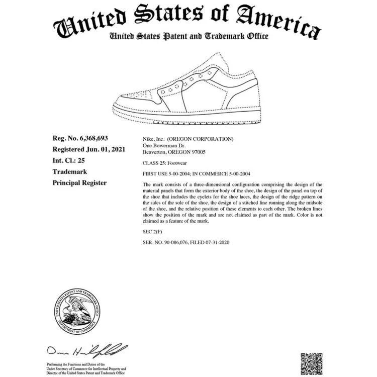 AJ1,Air Jordan 1,Nike  律师函警告!Nike 为 AJ1 外观申请商标!打击山寨鞋!