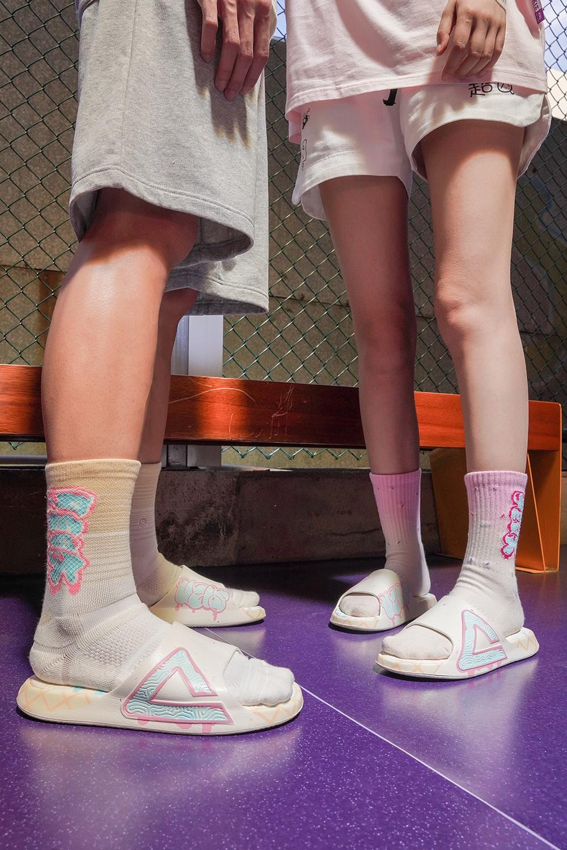 UZIS,匹克,态极,发售  甜美冰淇淋配色!全新联名版态极拖鞋明天发售!买鞋送袜!