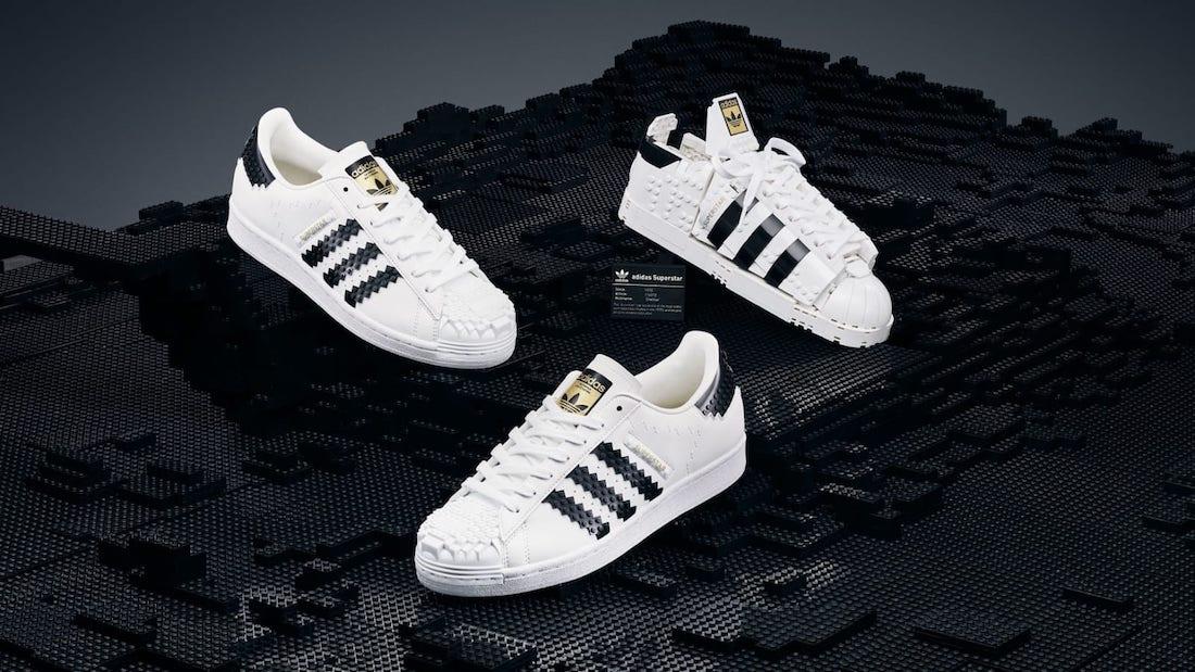 adidas,Superstar,LEGO  「乐高贝壳头」实物曝光!这波看完感觉比鞋还香!
