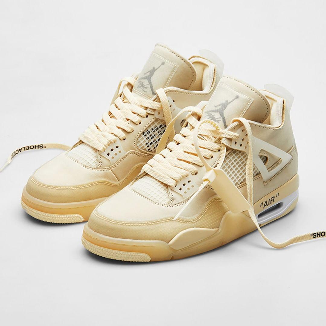 "Jordan Brand,Air Jordan 4,Shim   OW x AJ4 绝佳平替?全新 AJ4 ""Shimmer"" 实物曝光!"