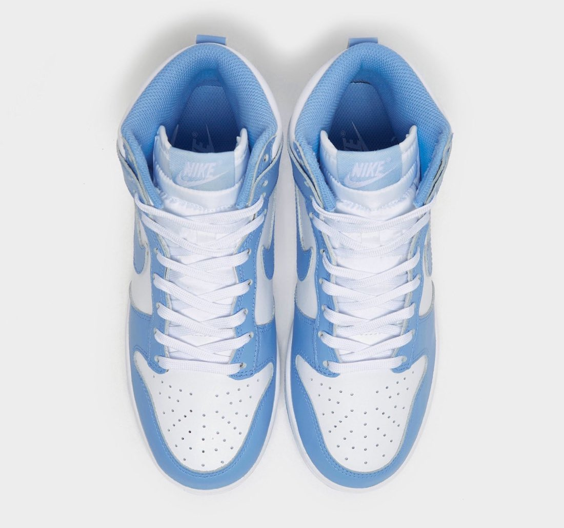 Dunk Hi,Nike,发售,DD1869-107  北卡蓝又来了?!全新 Dunk Hi 实物曝光!配色超清爽!