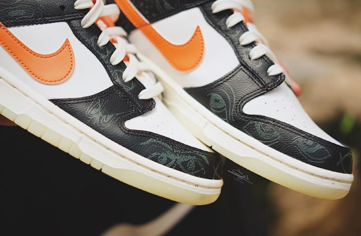 Nike,Dunk Low,Halloween,DD0357  这鞋有点「吓人」!全新「万圣节」 Dunk Low 实物曝光!